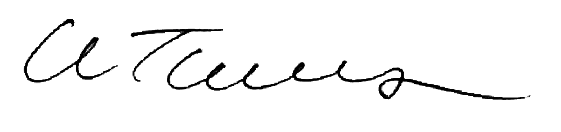 Colin Thomson, Managing Director's signature